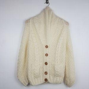 Vintage | Handmade Knit Cardigan Wool Sweater